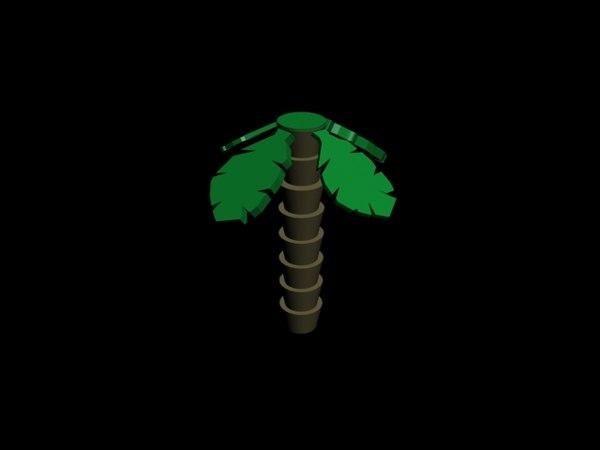 free lego palm 3d model