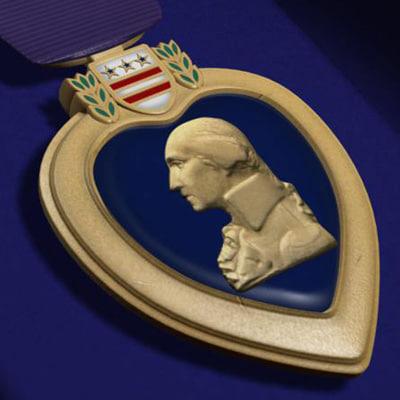 purple heart 3d model