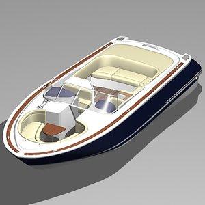 chris craft launch boat 3d model
