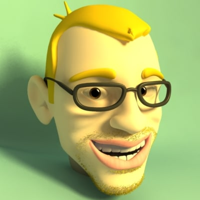 cartoon head faces 3d model