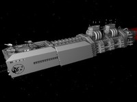 3d spaceship carrier
