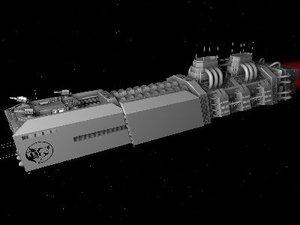 3d spaceship carrier