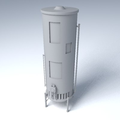 water heater 3d max