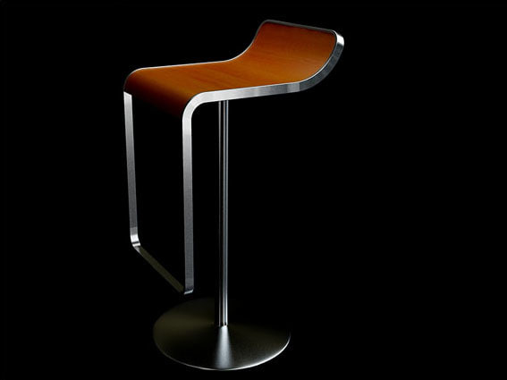 lem bar stool 3d model