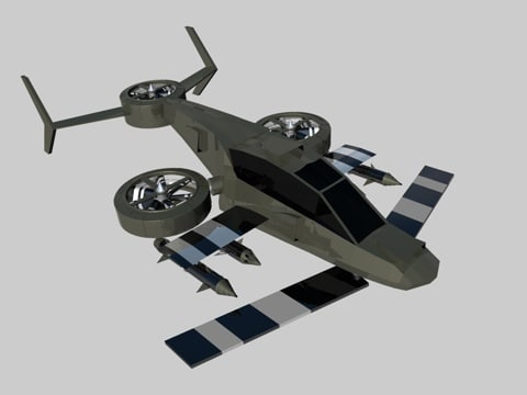 3d model helicopter