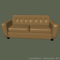leather couch 3d 3ds