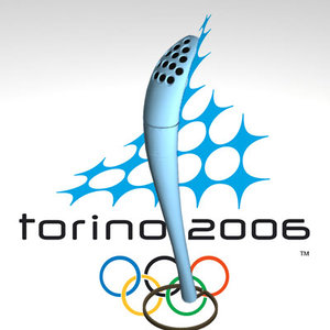 olympic torch 3d model
