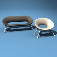 Starck Ploof Armchair and Settee