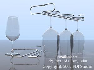 wine glass wire rack 3ds