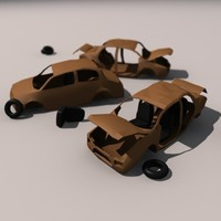 3d wrecks car model