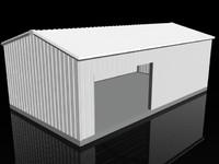 small garage 3d model