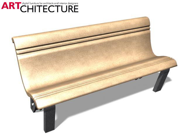 3ds max bench street furniture