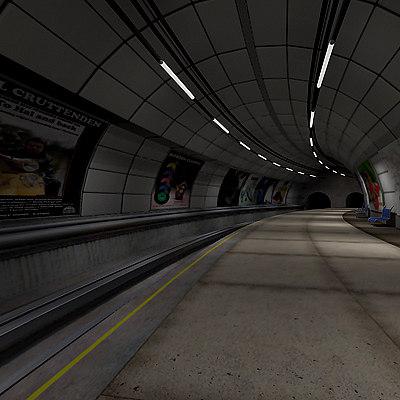 3d model underground platform