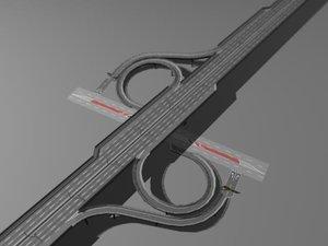 highway street interchange 3d model