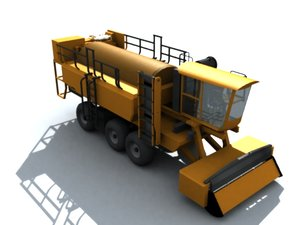 pea picker harvester 3d model