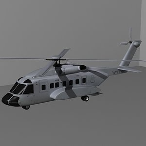 3ds sikorsky s-92 helicopter