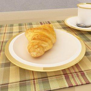 3d croissant