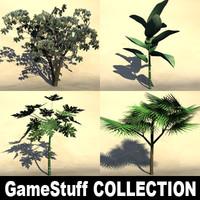 3d tropic trees