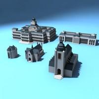 building set 3d model