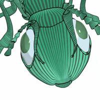 3d ant cartoon model