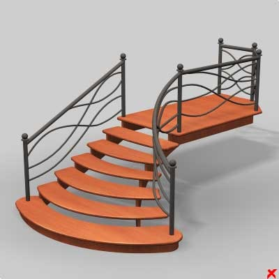 stairs staircase 3d max