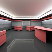multimedia shop interior 3d model