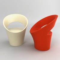 3d armchair designed houssin