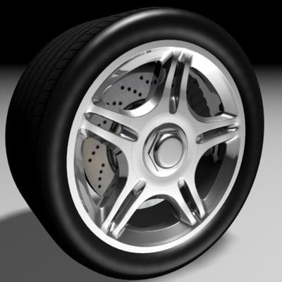 maya car wheel tire