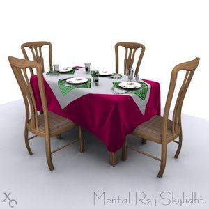 cloths napkins 3d model