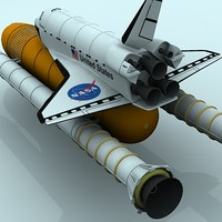 3d discovery space shuttle