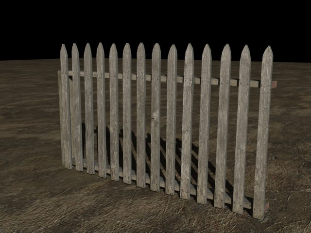 3d picket fence model