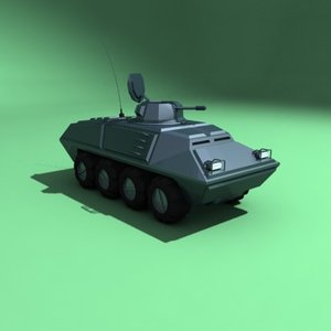 apc armored vehicle 3d 3ds
