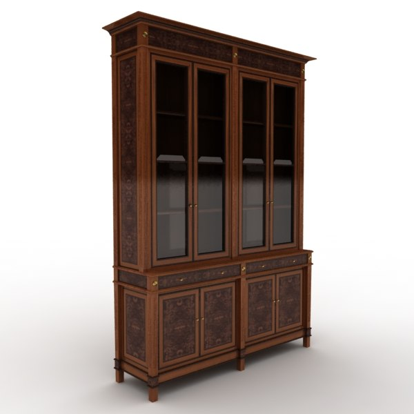 3d model cabinet styled wood