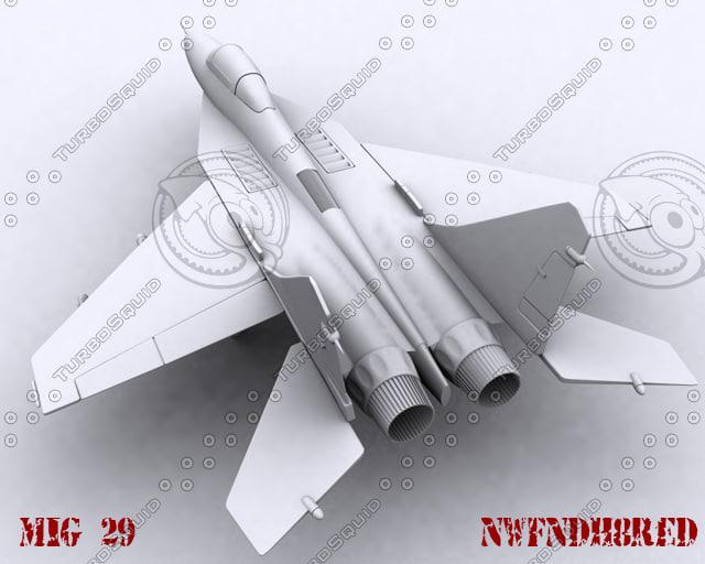 mig-29 landing gear 3d max