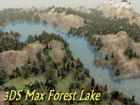Terrain Forest Lake