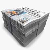 newspaper news new c4d