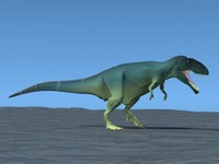 giganotosaurus rex animation 3d model