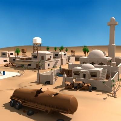 arab town desert 3ds