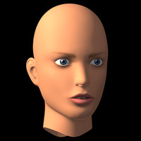 female head v1 3d model