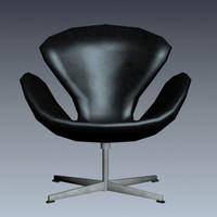 3d model of swan chair