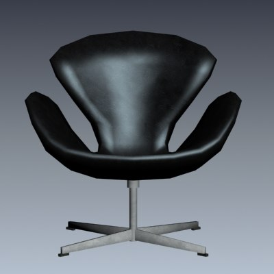 3d model of swan chair