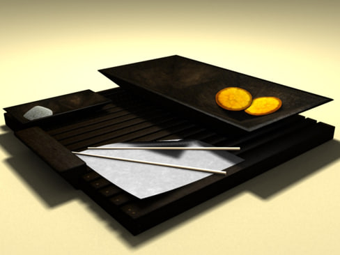 3ds max oriental tray