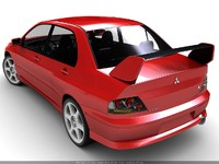 3d mitsubishi lancer evolution 8 model