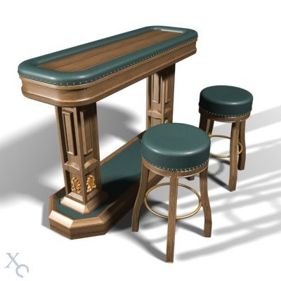 bar desk stools 3d model