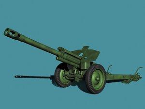 soviet howitzer wwii 3d max
