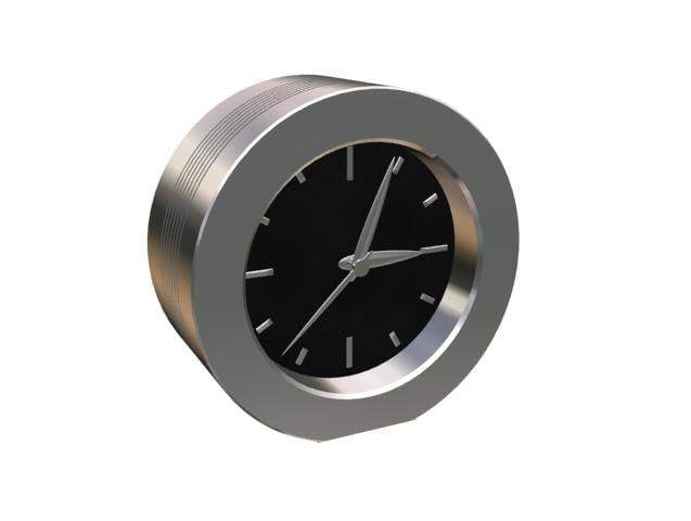 maya chrome clock