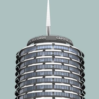capitol records 3d model