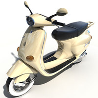 scooter vespa motorcycle 3d model