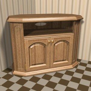 3d corner cabinet hifi video model