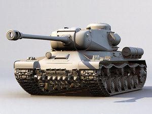 russian tank is-2 3d model